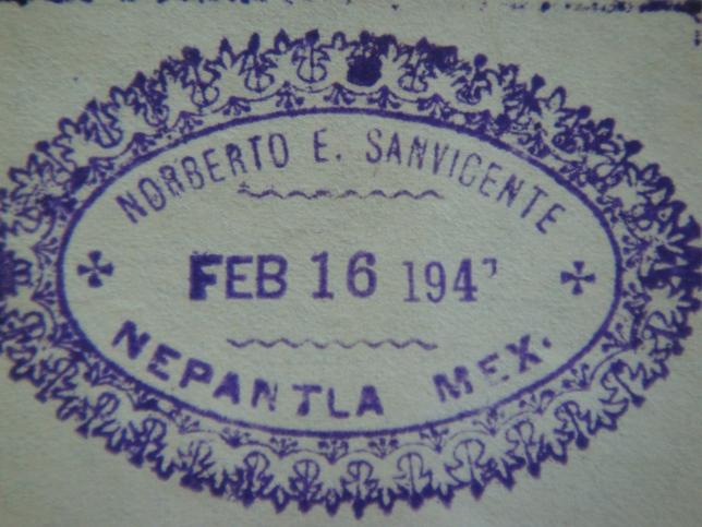 (Sello personal de Norberto Sanvicente. Foto: M.S.)