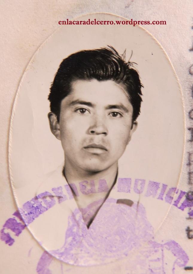 (El joven Delfino Lima. Foto: M.S.)