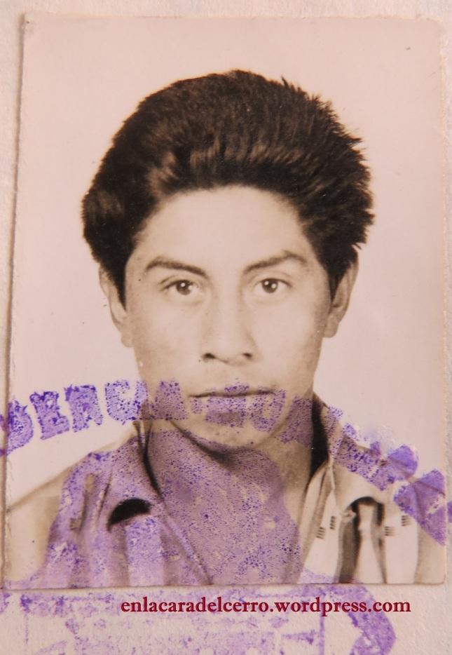 (El joven Miguel Alvarado. Foto: M.S.)